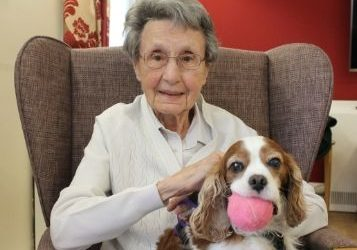 A royal canine visit to donate £10,000 to care home residents