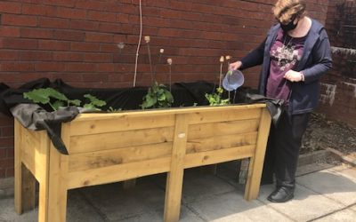 Tenants come together to grow their own!