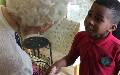 Well-being success for pupils and care home residents